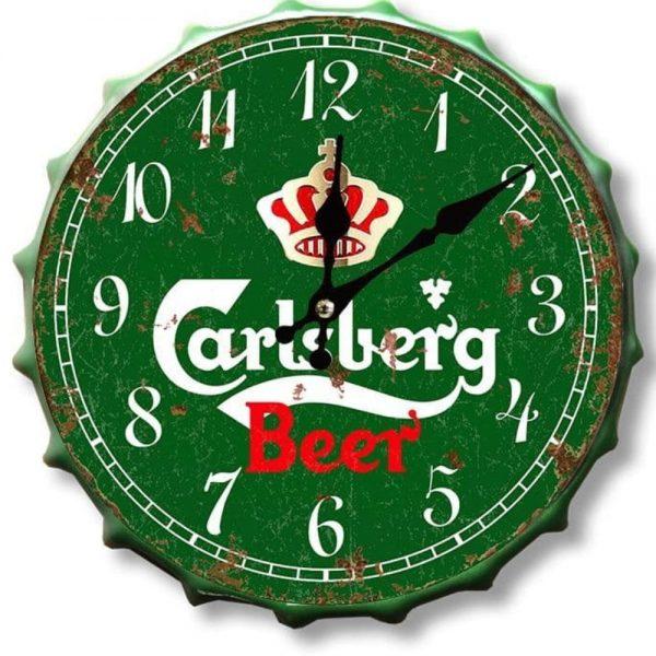 Carlsberg 30cm Clock Bottle Top