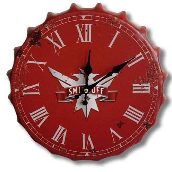 Smirnoff 30cm Clock Bottle Top