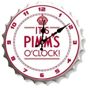Pimms 30cm Clock Bottle Top
