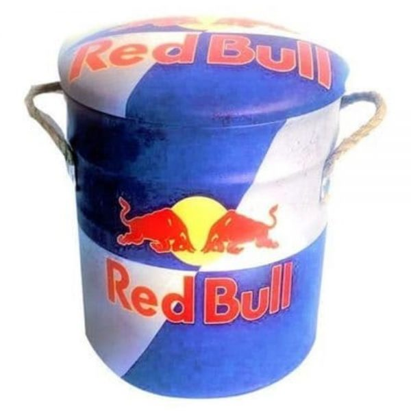 Red Bull Metal Stool