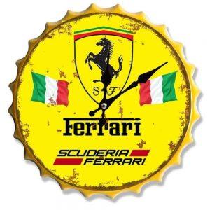 Ferrari 30cm Clock Bottle Top