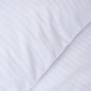 Bianca Cotton Stripe White Duvet Set