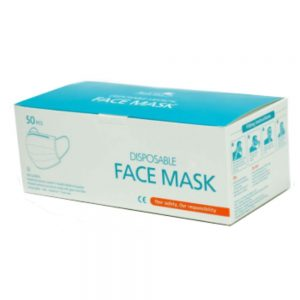50 Pack 3 Layer Protective Face Masks