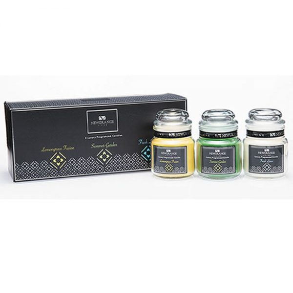 Newgrange Living Luxury Small Candle Jars Set 3