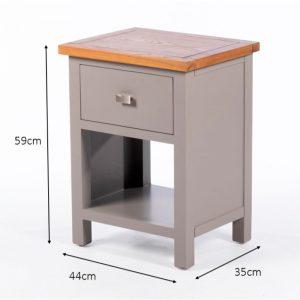 Harvey 1 Drawer Side Table Grey/Oak