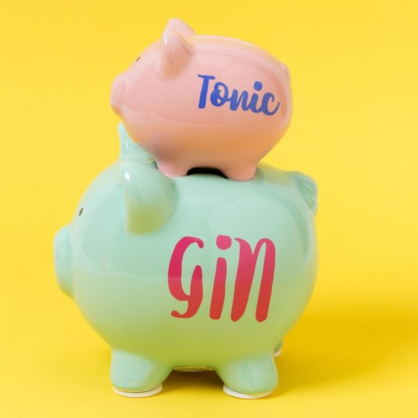 Double Pig Money Bank - Gin and Tonic