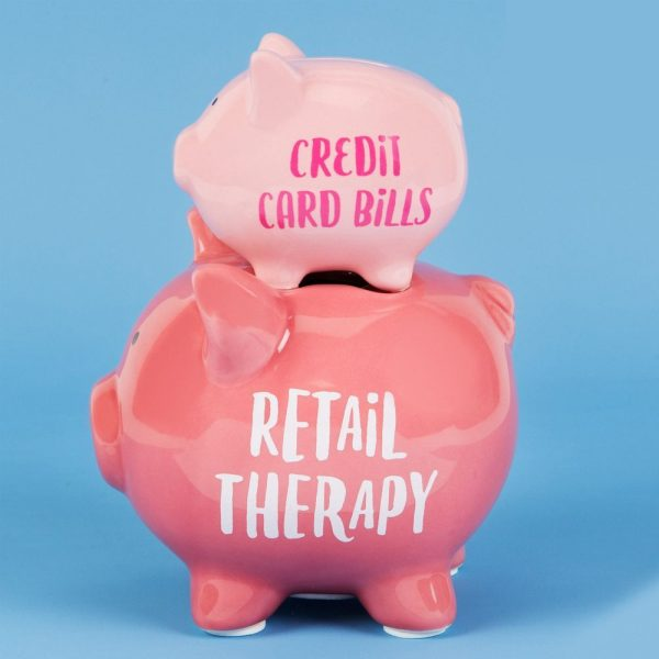 Double Pig Money Bank Retail Therapy