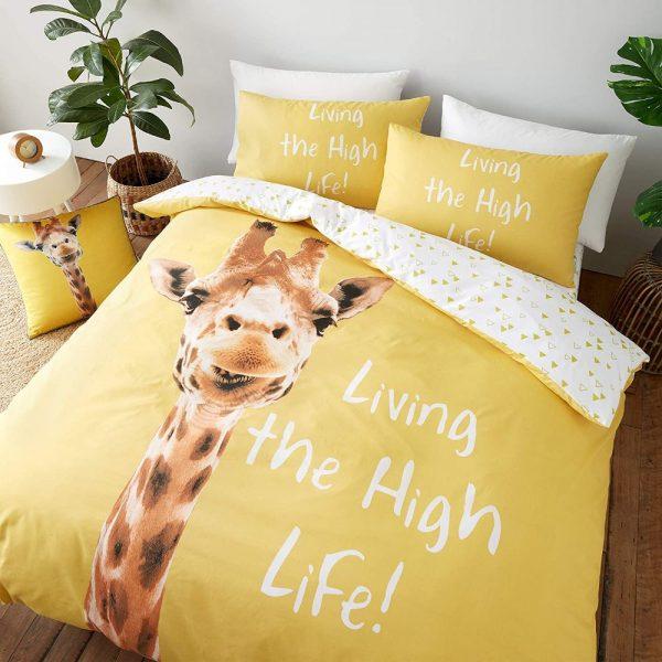 Catherine Lansfield Giraffe Duvet Set