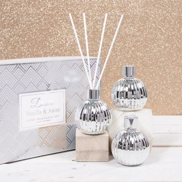 Set of 3 Diffusers Vanilla and Anise 50ml each
