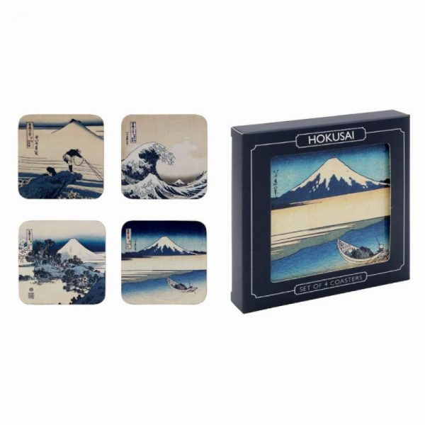 Hokusai Coasters Set of 4