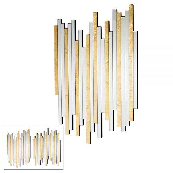 Ava Mirror Art Linear Gold Pair