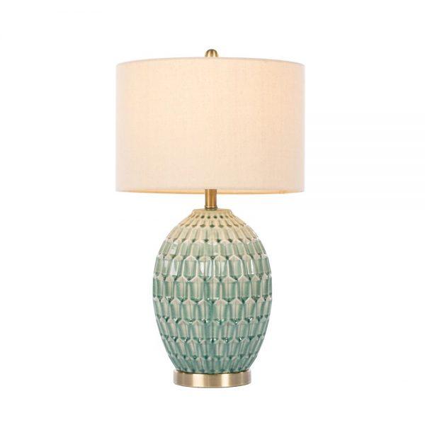 Gemma Ceramic Table Lamp Geometric Pattern