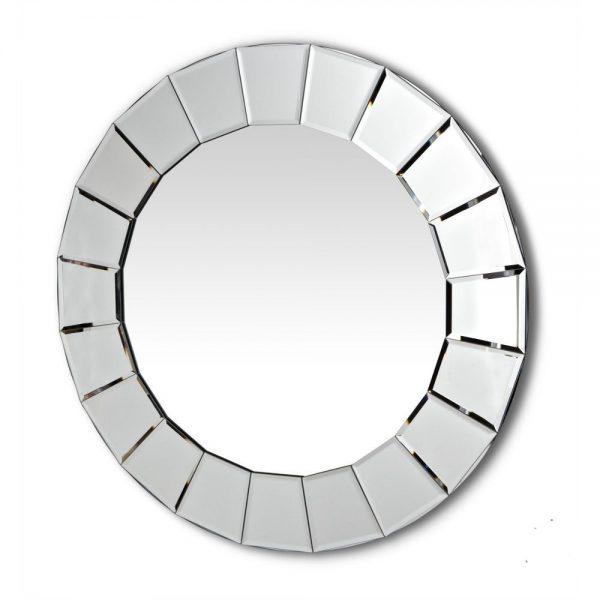 Lilliana Round Mirror With Mirrored Frame