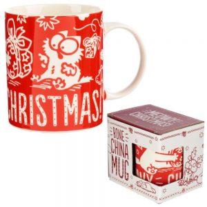 Simons Cat Meowy Christmas Porcelain Mug