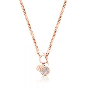 Romi Rose Gold Popcorn Chain Necklace
