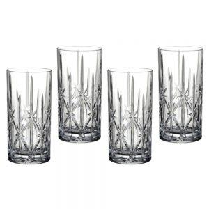 Marquis Sparkle Crystal Set of 4 Hi-ball Glasses
