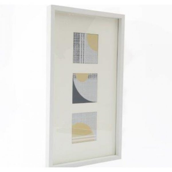 Triple Abstract Frame 45x25cm