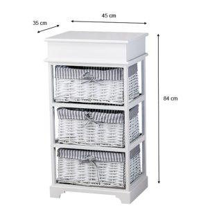 Chester 3 Basket Storage Unit Grey