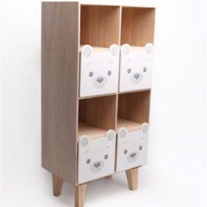 Baby Bear 4 Drawer Shelf Unit