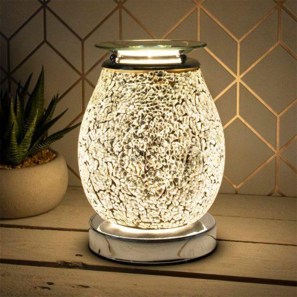 Desire Aroma Lamp Silver Mosaic