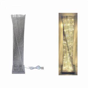 Silver Twist LED Floor Lamp Height 100cm