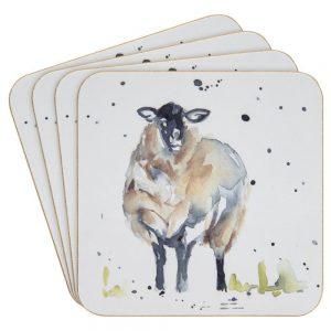 Country Life Sheep Set of 4 Coasters