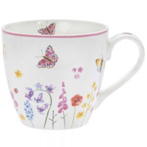 Butterfly Garden China Breakfast Mug