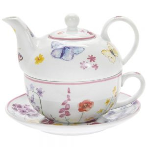 Butterfly Garden China Tea For One