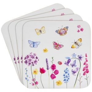 Butterfly Garden Set of 4 Coasters