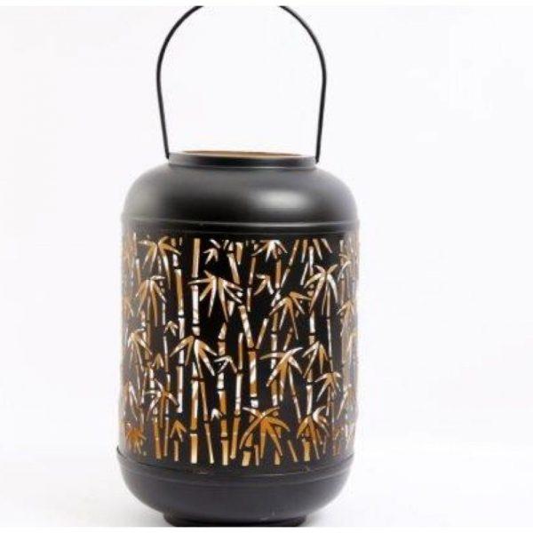Natural Interiors Bamboo Cut Out Lantern 19x13cm