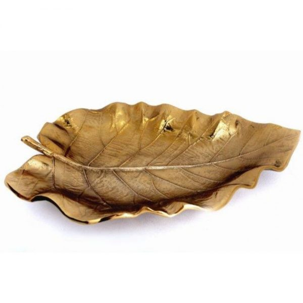 Gold Leaf Decorative Metal Bowl