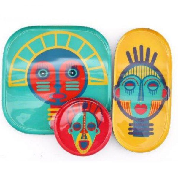 Set of 3 Mask Trays