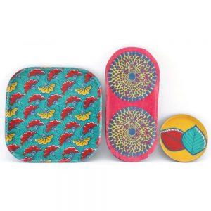 Set of 3 Batik Trays