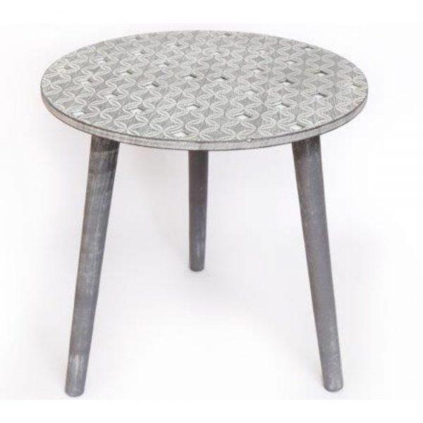 Grey Geo Diamond Table