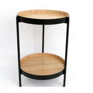 2 Tier Black Table