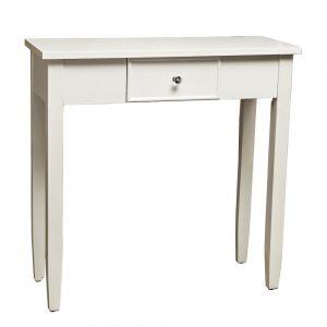 Porto 1 Drawer White Console Table