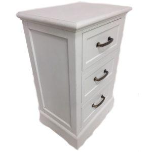 Miquel 3 Drawer Locker White