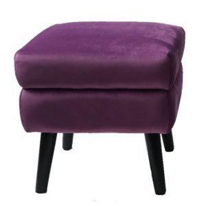 Ines Square Footstool Purple