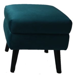 Ines Square Footstool Peacock