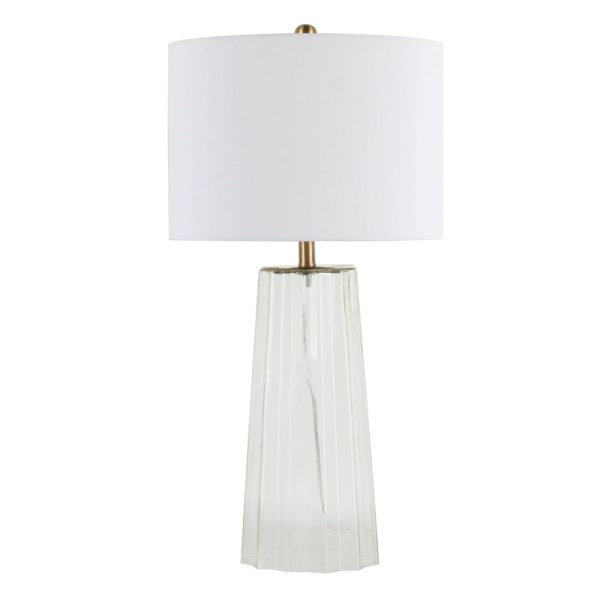 Jessa Glass Table Lamp with White Shade